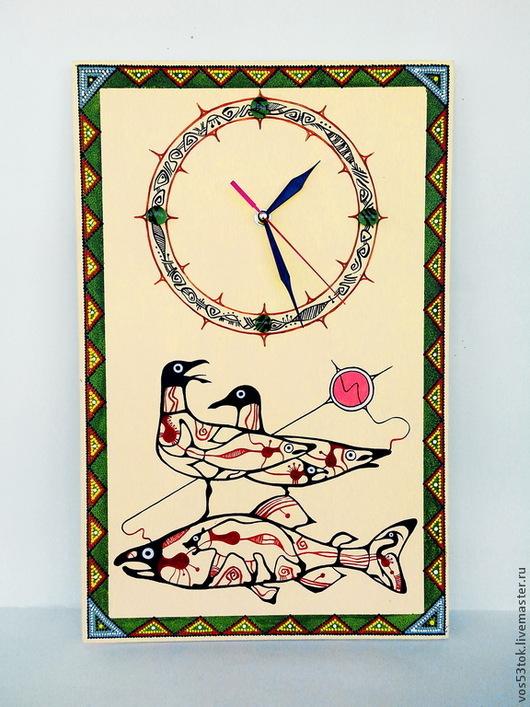 """Часы для дома ручной работы. Ярмарка Мастеров - ручная работа. Купить Часы настенные """"Вудленд"""". Handmade. Желтый, природа"""