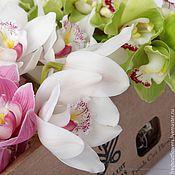 Цветы и флористика ручной работы. Ярмарка Мастеров - ручная работа Орхидеи в подарочной коробке. Handmade.
