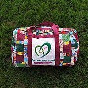 Сумки и аксессуары handmade. Livemaster - original item Travel Bag, Patchwork Travel Bag, Altai, Quilted Bag. Handmade.