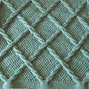 Для дома и интерьера ручной работы. Ярмарка Мастеров - ручная работа Плед  вязаный (покрывало, одеяло) Изумруд. Handmade.