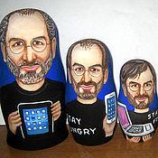 Русский стиль handmade. Livemaster - original item Nesting doll Steve Jobs. Handmade.
