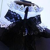 Аксессуары handmade. Livemaster - original item Set accessories / collar and cuff/ white cotton. Handmade.