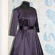 """Платья ручной работы. Платье в стиле 50-х """"Спелая слива"""". Анна-Лиза (Мода вне времени ТМ). Ярмарка Мастеров."""