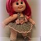 Человечки ручной работы. Вязаная кукла Лора.. IRINA KOREN. Ярмарка Мастеров. Описание игрушки, волосы искусственные