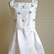 Работы для детей, handmade. Livemaster - original item Silk dress for girl. Handmade.