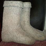 Обувь ручной работы. Ярмарка Мастеров - ручная работа Валенки женские светло-серые. Handmade.