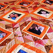 """Для дома и интерьера ручной работы. Ярмарка Мастеров - ручная работа Покрывало с фотографиями """"Морошка"""" № 479. Handmade."""