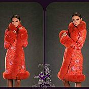 """Одежда ручной работы. Ярмарка Мастеров - ручная работа Пальто """"Оранжевая Лиса"""". Handmade."""