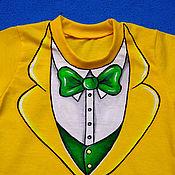 """Одежда ручной работы. Ярмарка Мастеров - ручная работа Футболка - смокинг детская """"Стильный жёлтый"""". Handmade."""