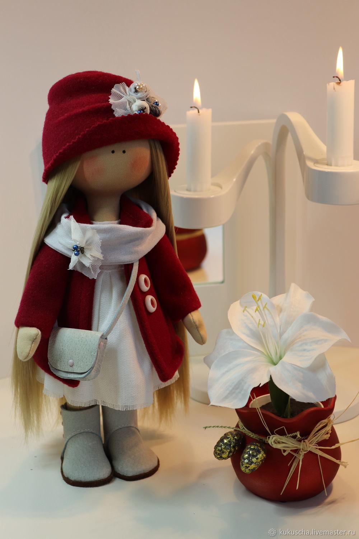 текстильная интерьерная кукла зимняя Лаура, Большеножка, Санкт-Петербург,  Фото №1