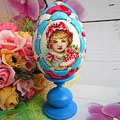 Сувениры и подарки handmade. Livemaster - original item Easter egg Little Red Riding Hood (interior on a stand). Handmade.