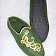 """Обувь ручной работы. Заказать Тапочки """"Восточные"""". Алёна (phenix-felt). Ярмарка Мастеров. Шерсть натуральная, необычный подарок"""