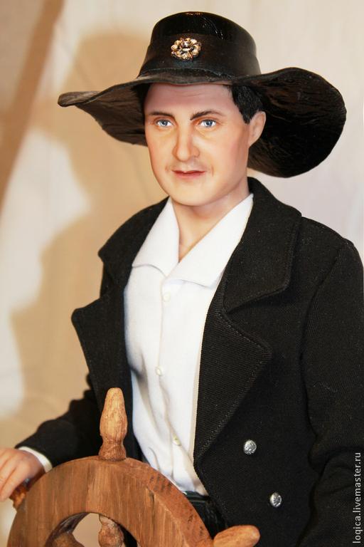Портретные куклы ручной работы. Ярмарка Мастеров - ручная работа. Купить Капитан. Handmade. Портрет, портретная кукла, капитан