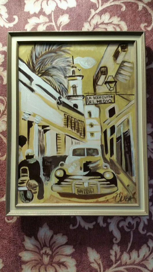 Город ручной работы. Ярмарка Мастеров - ручная работа. Купить Куба. Handmade. Куба, картина акрилом, картина для интерьера