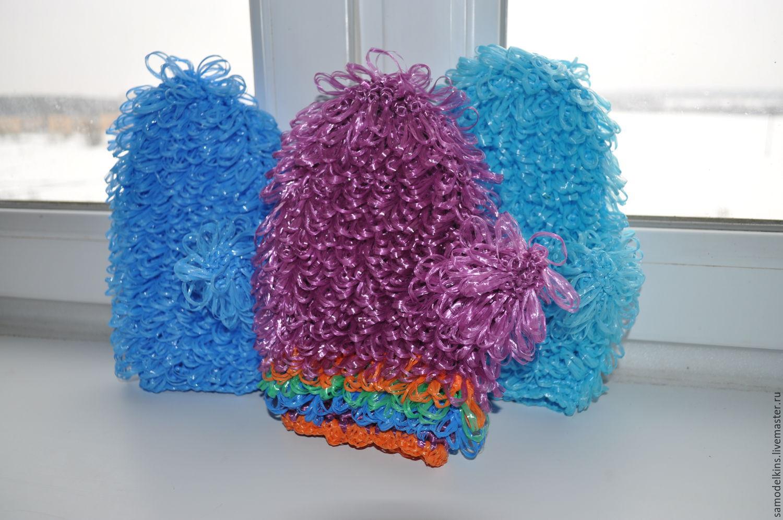 Вязание крючком мочалка рукавица 60