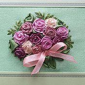 Открытки ручной работы. Ярмарка Мастеров - ручная работа Букет в розовых тонах. Handmade.