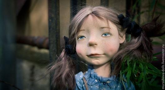 Коллекционные куклы ручной работы. Ярмарка Мастеров - ручная работа. Купить Голубика. Handmade. Синий, трессы