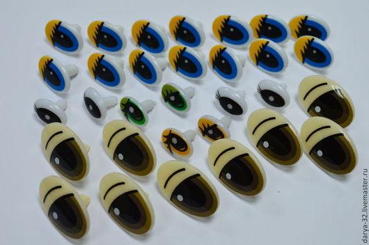 Куклы и игрушки ручной работы. Ярмарка Мастеров - ручная работа. Купить Овальные винтовые пластиковые глазки. Handmade. Глаза