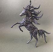 """Для дома и интерьера ручной работы. Ярмарка Мастеров - ручная работа фигурка """"лошадь на дыбах стимпанк"""" (Лошадь  статуэтка). Handmade."""