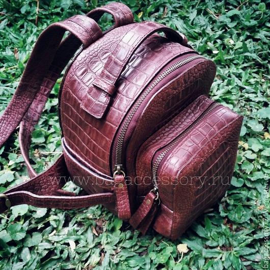 Рюкзаки ручной работы. Ярмарка Мастеров - ручная работа. Купить Рюкзачок из натуральной кожи. Handmade. Коричневый, рюкзак, рюкзак из кожи