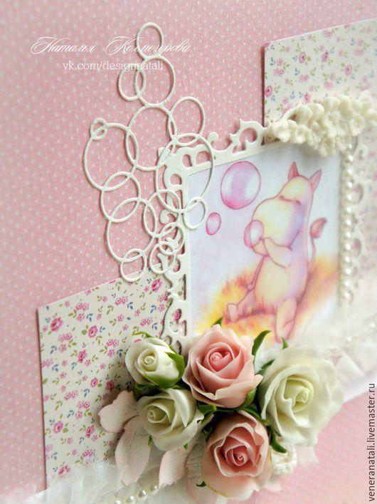 """Фотоальбомы ручной работы. Ярмарка Мастеров - ручная работа. Купить Фотоальбом детский """"Муми-тролль"""". Handmade. Розовый, альбом для малыша"""