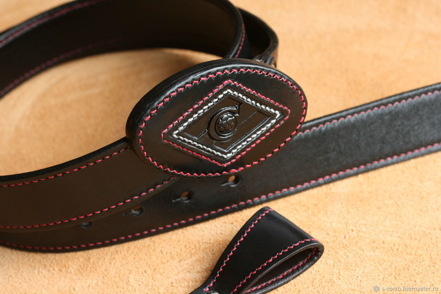 Belt with buckle ' Spartak', Straps, Moscow,  Фото №1