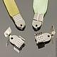 Зажимы-концевики с зубчиками для лент и шнуров цвета Серебро | Сталь комплектами по 30 штук для использования в сборке украшений ручной работы