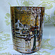 Pencil Holders handmade. Order 'Autumn in Paris', pencil. MissDecoupage. Livemaster. France, gifts for women