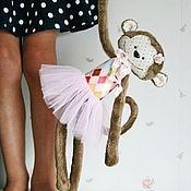 Куклы и игрушки ручной работы. Ярмарка Мастеров - ручная работа Обезьянка Монита. Handmade.