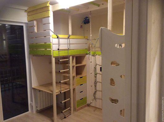 Детская ручной работы. Ярмарка Мастеров - ручная работа. Купить Детская комната со скалодромом. Handmade. Комбинированный, детский домик