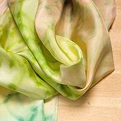 Аксессуары handmade. Livemaster - original item Scarf Spring hand-painted, natural silk. Handmade.