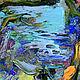 """Пейзаж ручной работы. Картина """"Сакура на Озере Mae Kuang"""" - картина с сакурой. ЯРКИЕ КАРТИНЫ Наталии Ширяевой. Интернет-магазин Ярмарка Мастеров."""