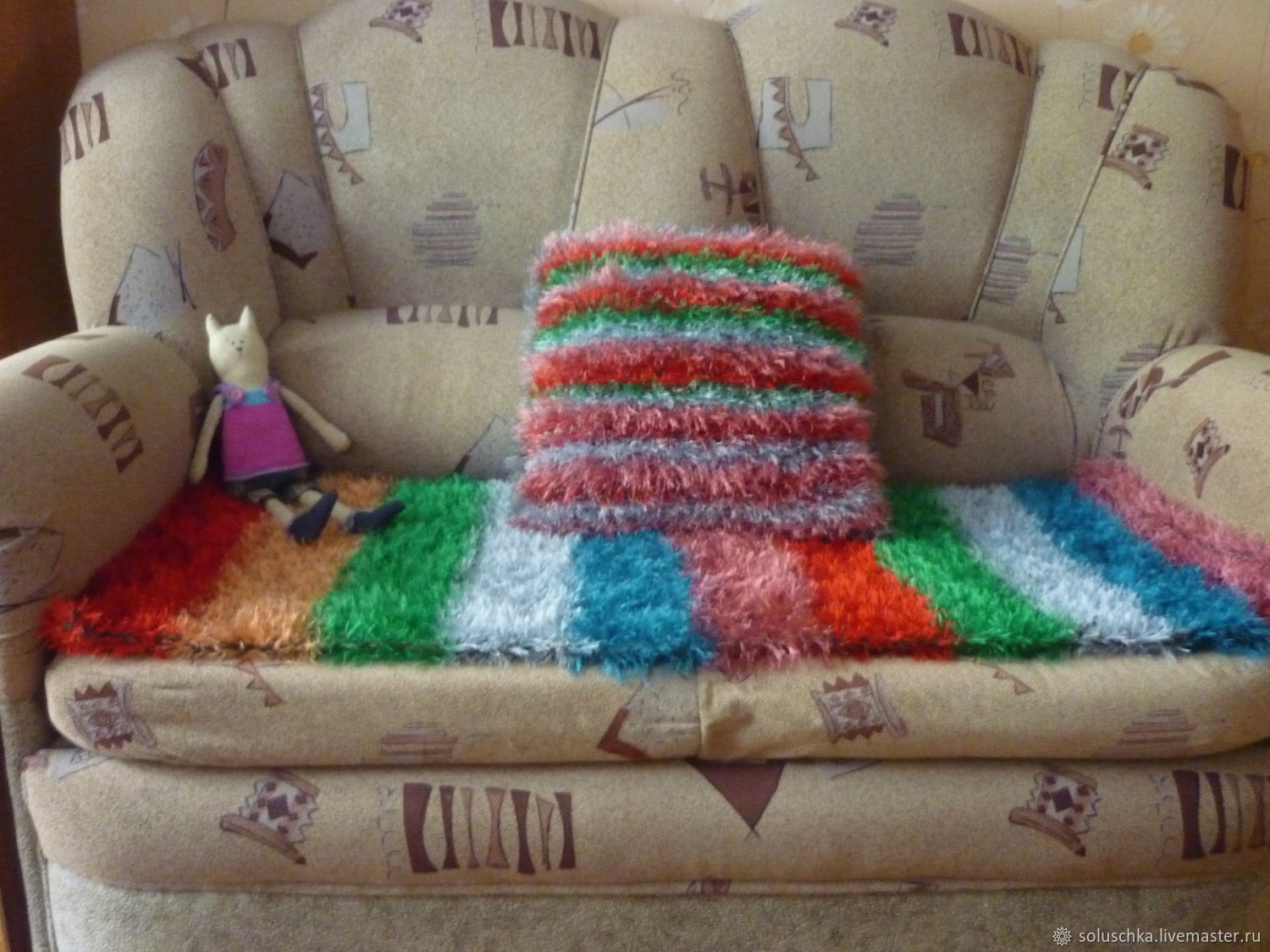 Knitted kit for home or car from yarn ' grass', Car souvenirs, Ryazan,  Фото №1