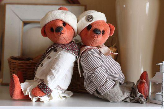 Мишки Тедди ручной работы. Ярмарка Мастеров - ручная работа. Купить Пара мишек тедди в матросских костюмах. Handmade. матрос