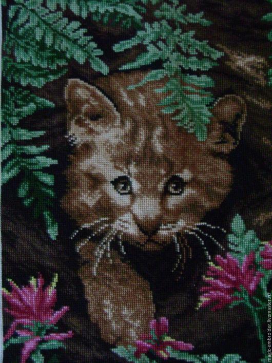 Животные ручной работы. Ярмарка Мастеров - ручная работа. Купить Львенок в лесу. Handmade. Комбинированный, дикие кошки, дикие животные