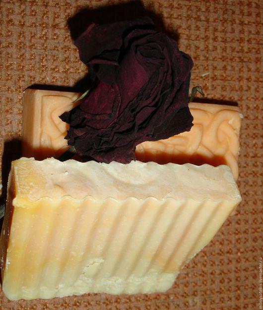 Мыло ручной работы. Ярмарка Мастеров - ручная работа. Купить Молочный мандарин. Handmade. Рыжий, Косметика ручной работы