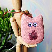 Куклы и игрушки ручной работы. Ярмарка Мастеров - ручная работа Корпоративный подарок - бизнес сувенир - логотип - войлочный кот. Handmade.