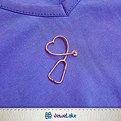 Подвеска ручной работы. Ярмарка Мастеров - ручная работа Кулон фонендоскоп в форме сердца. Подарок медику. Handmade.