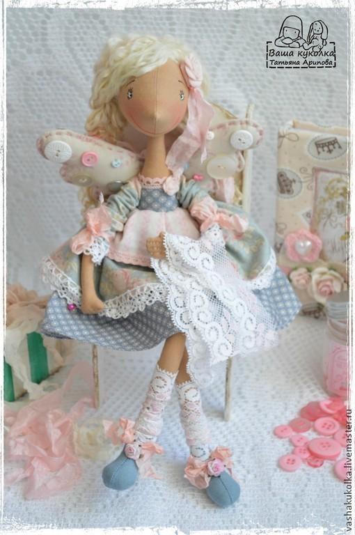 Коллекционные куклы ручной работы. Ярмарка Мастеров - ручная работа. Купить Ангел рукоделия. Handmade. Ангел хорошего настроения, ангелок