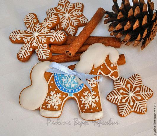 Кулинарные сувениры ручной работы. Ярмарка Мастеров - ручная работа. Купить Пряничная лошадка - символ года 2014. Handmade.