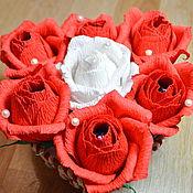 """Подарки к праздникам ручной работы. Ярмарка Мастеров - ручная работа Букет из конфет """"Розы"""". Handmade."""