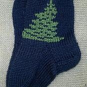 """Работы для детей, ручной работы. Ярмарка Мастеров - ручная работа новогодние носочки для малыша """"Елочка"""". Handmade."""