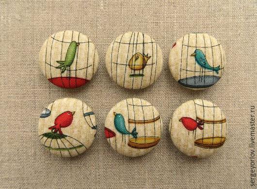 Шитье ручной работы. Ярмарка Мастеров - ручная работа. Купить Птички в клетке - набор. Handmade. Бежевый, материалы для украшений