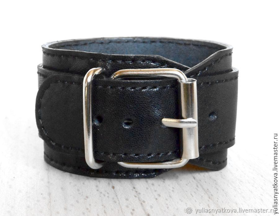 c38e58d14def1 Dave Gahan leather bracelet. Black leather cuff – shop online on Livemaster  with shipping - 4K6Y1COM   St. Petersburg