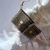 Украшения handmade. Livemaster - original item Earrings transparent Sparta Greece ornament. Handmade.
