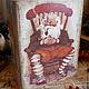 """Шкатулки ручной работы. Ярмарка Мастеров - ручная работа. Купить Шкатулка деревянная """"Санта Клаус"""". Handmade. Шкатулка, шкатулка для мелочей"""