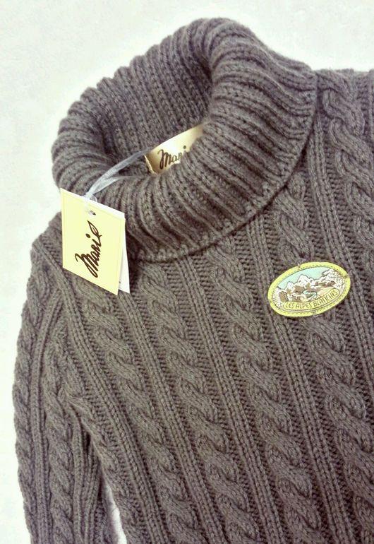 Одежда для мальчиков, ручной работы. Ярмарка Мастеров - ручная работа. Купить Уютный свитер с эластичным узором для малыша. Handmade.