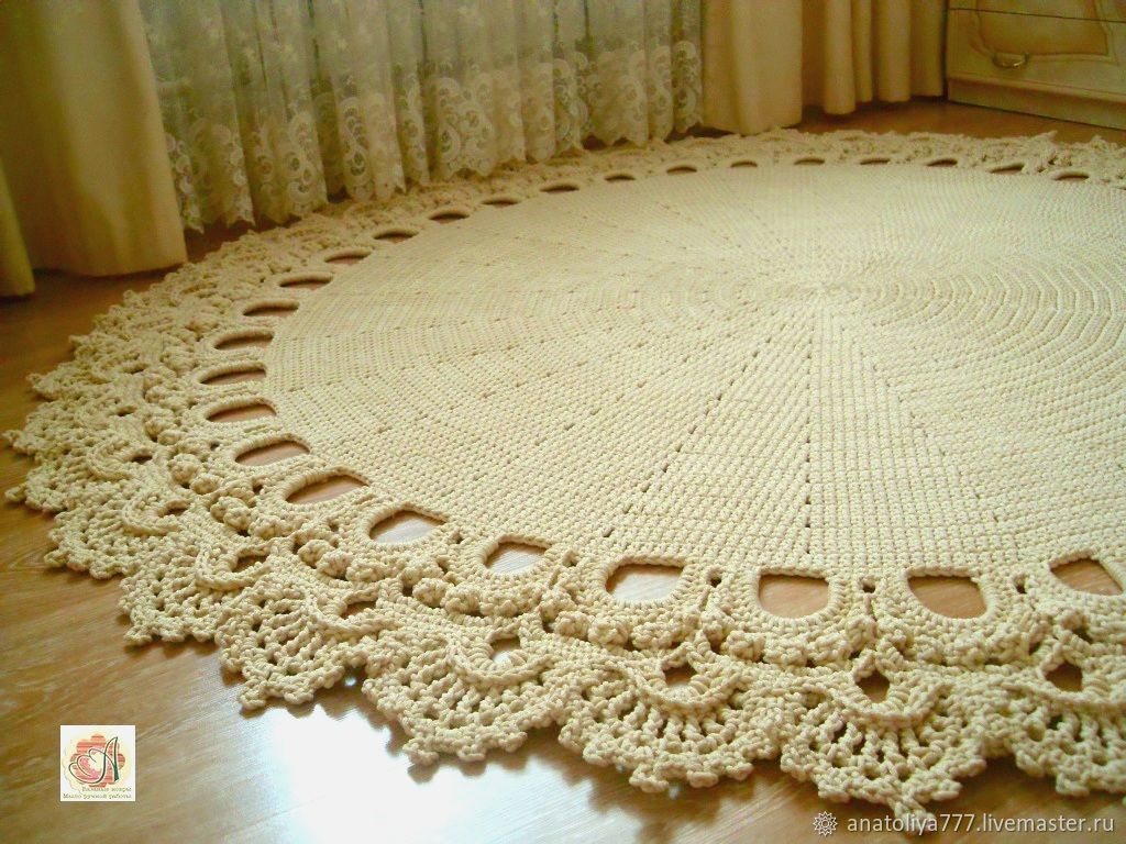 Вязаные ковры из полиэфирного шнура на заказ цена бланковые толстовки оптом