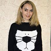 """Одежда ручной работы. Ярмарка Мастеров - ручная работа Джемпер"""" котэ"""". Handmade."""