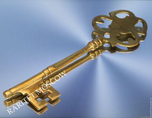 Винтажные предметы интерьера. Ярмарка Мастеров - ручная работа. Купить Ключ большой бронза латунь Англия 6. Handmade. Золотой, англия